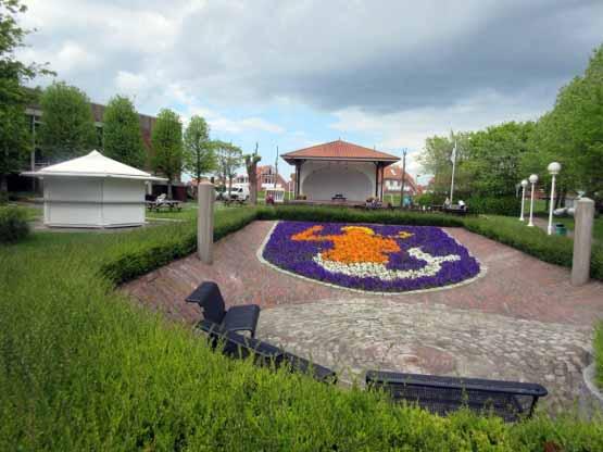 Kurpark Horumersiel Blumenwappen